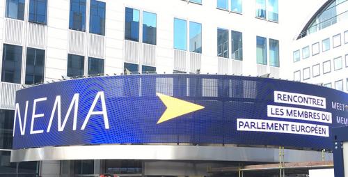 康佳旗下商用显示屏亮相欧洲议会大厦