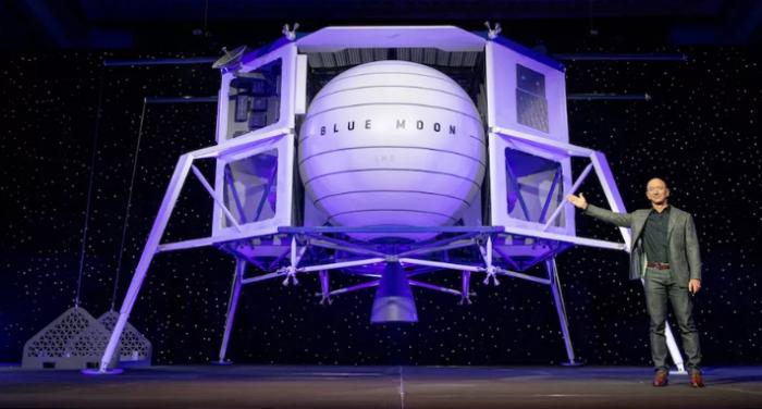 蓝色起源将与重量级航太公司合作设计人类登月着陆器