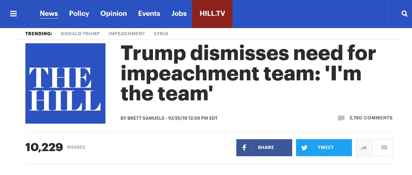 应对弹劾特朗普自信满满
