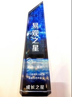 """2019年度易观之星评选出炉 掌上高铁App荣获""""成长之星""""奖项"""