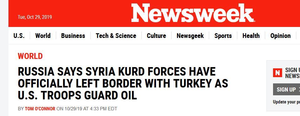 """俄防长:已协助库尔德民兵武装完全撤离叙北""""安全区"""""""