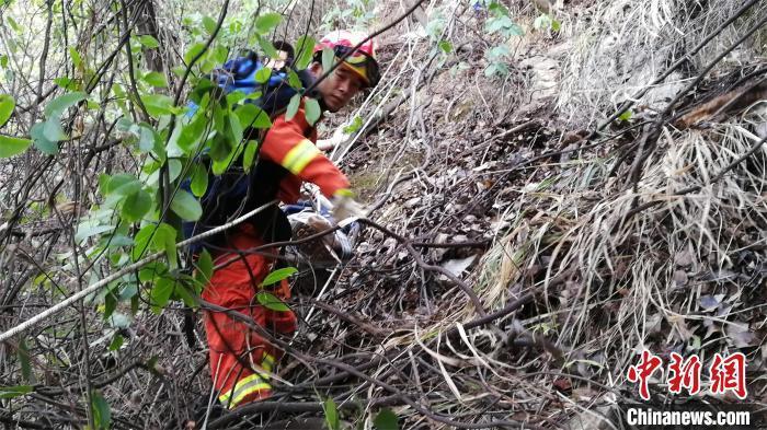 湖北黄石:10名驴友登山遇险 消防员紧急救援