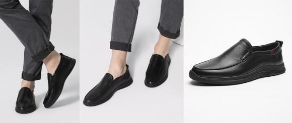热风Hotwind男士头层牛皮商务皮鞋的绅士魅力