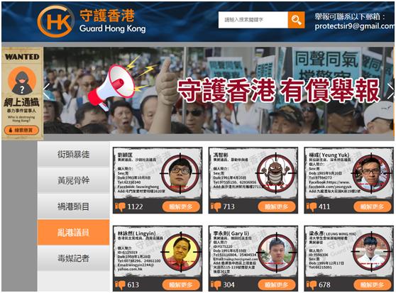 """向不法行为说""""不"""",香港网友发起守护香港行动,网上""""通缉""""暴力分子"""