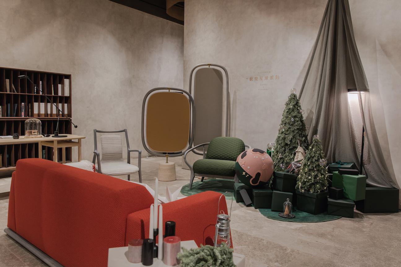 """梵几圣诞限定款家具首发,联合艺术家墨白设计""""圣诞星球""""主题橱窗"""