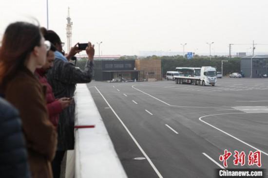 """""""一带一路""""沿线国家媒体参访上海自贸区临港新片区"""