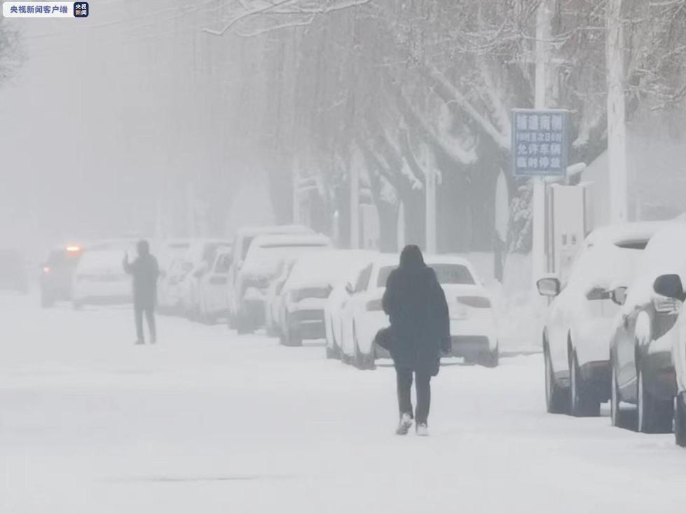 陕西北部迎来新年第一场雪 多条高速交通管制
