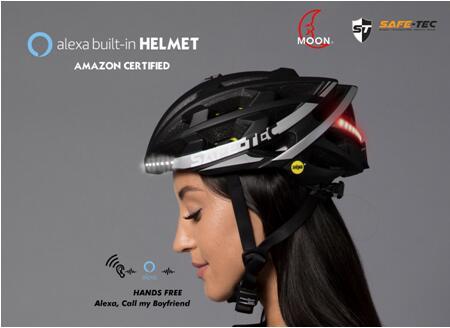 亚马逊Alexa智能头盔是SAFE-TEC ,CES2020见 !