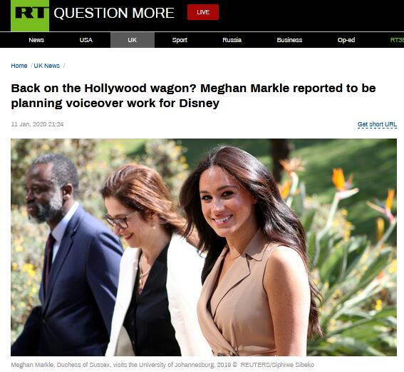 欲重返好莱坞?卸任王室职务后,梅根计划为迪士尼配音