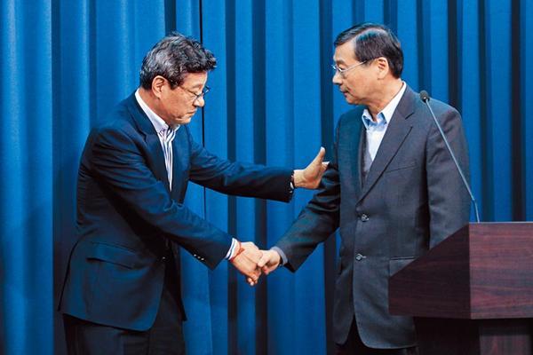 吴敦义辞国民党主席 林荣德担任代理党主席