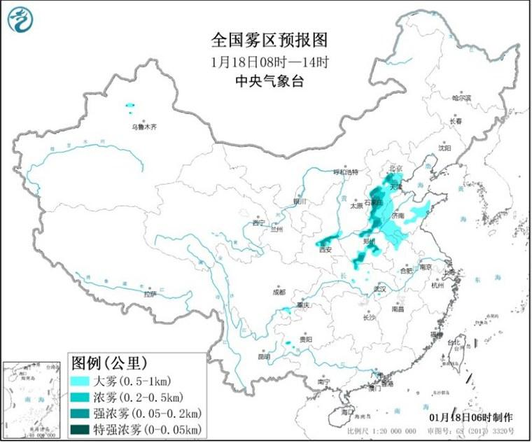 天津发布大雾黄色预警和霾橙色预警信号
