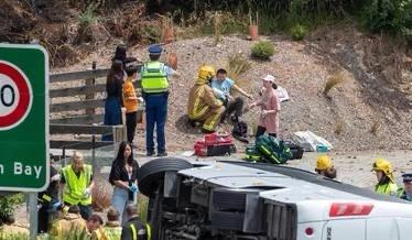新西兰一中国旅行团遭遇车祸 2人重伤