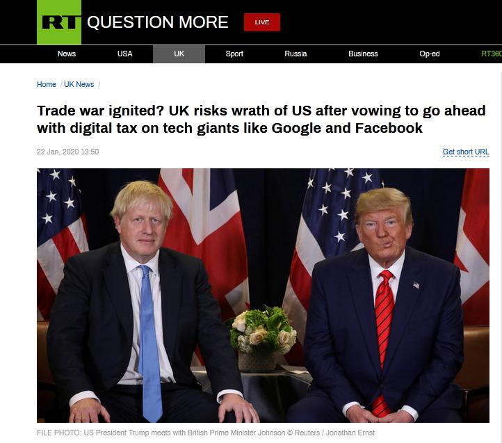 """美法刚就""""数字税""""冲突暂时""""停火"""",英国强硬表态:将继续推进征税计划"""