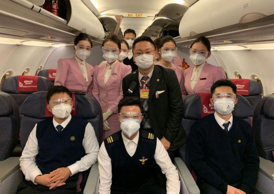 本次航班已抵达武汉,欢迎回家!