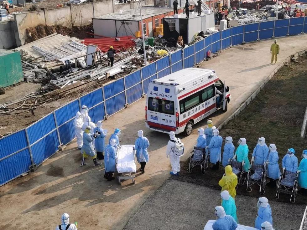 刚刚,火神山医院收治患者