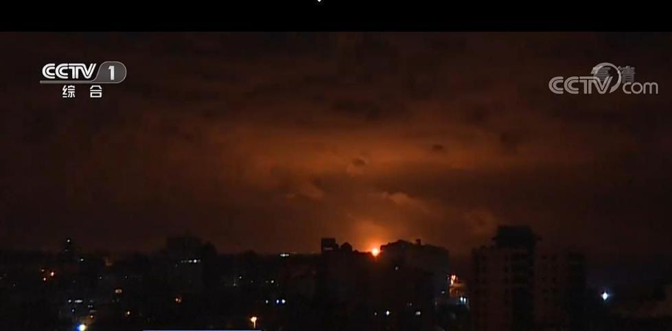 以军战机空袭加沙地带巴勒斯坦武装目标