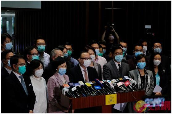 全国人大通过涉港国安立法决定,香港立法会建制派议员声明:坚定支持