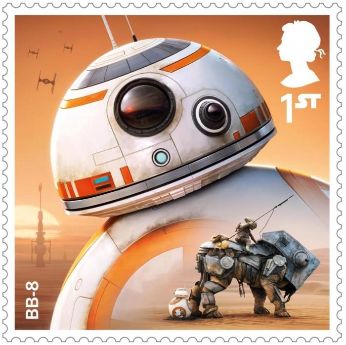 英皇家邮政为《星球大战8》推出一套纪念邮票