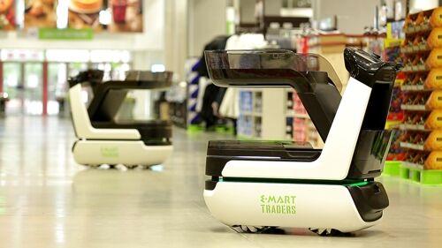 智能购物车进入韩国超市 可自动跟随顾客与收款
