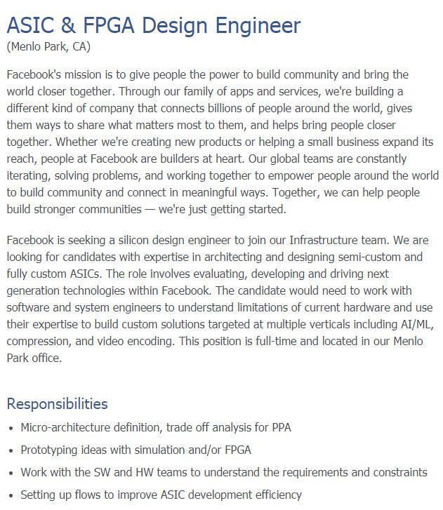 Facebook自研AI芯片 高通和Intel要遭抛弃?