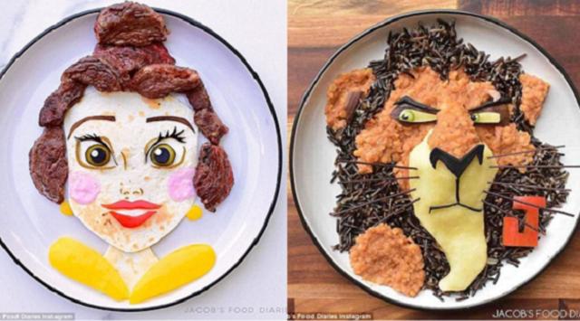澳巧手母亲制作卡通食物鼓励孩子多吃营养餐