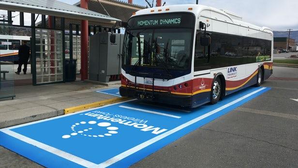 北美首个200千瓦无线充电器使电动巴士24小时运行
