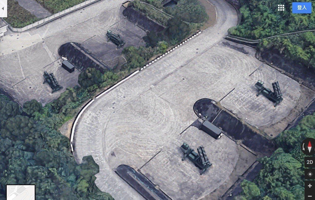 谷歌3D地图曝光台湾军事基地 导弹弹种与型号均可辨识