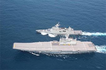 """泰国展示其""""航母战斗群"""" 舰载机只剩2架直升机"""